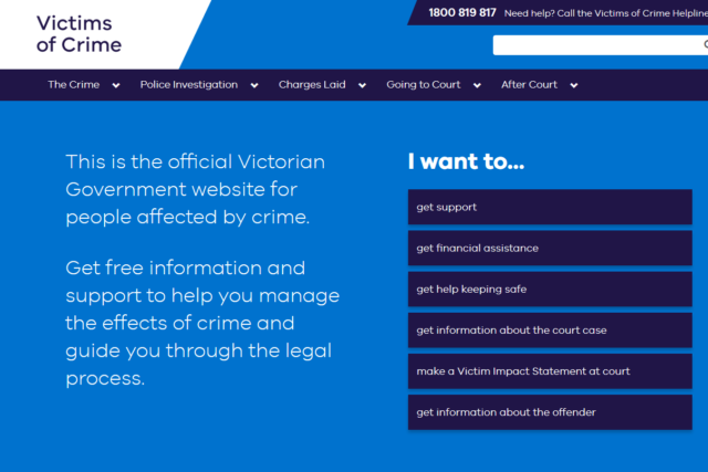 Victims of Crime Helpline